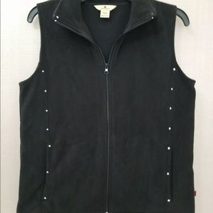 Woolrich Fleece Vest Lot Black And White Small
